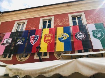 Gonfalone team flags