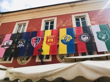 Gonfalone team flags